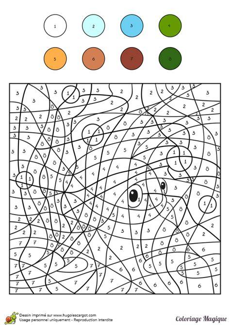 Coloriage Magique Niveau Cm2 D'un Poisson Rouge