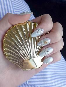 Seashell themed nail art   Nail Art   Pinterest