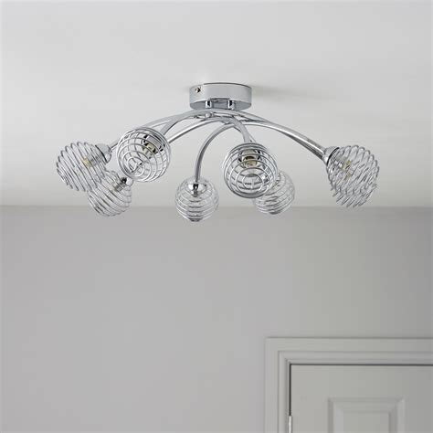 karli chrome effect 8 l ceiling light departments