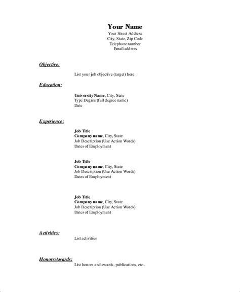 basic resume   samples  word