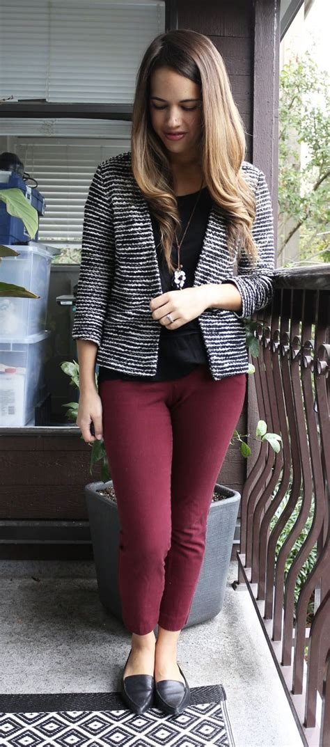 Burgundy Pants Womens Outfit  Beautiful Red Burgundy Pants Womens Outfit Creativity u2013 playzoa.com