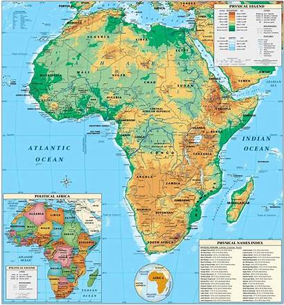 Map Physical Maps Earth Africa Expedition