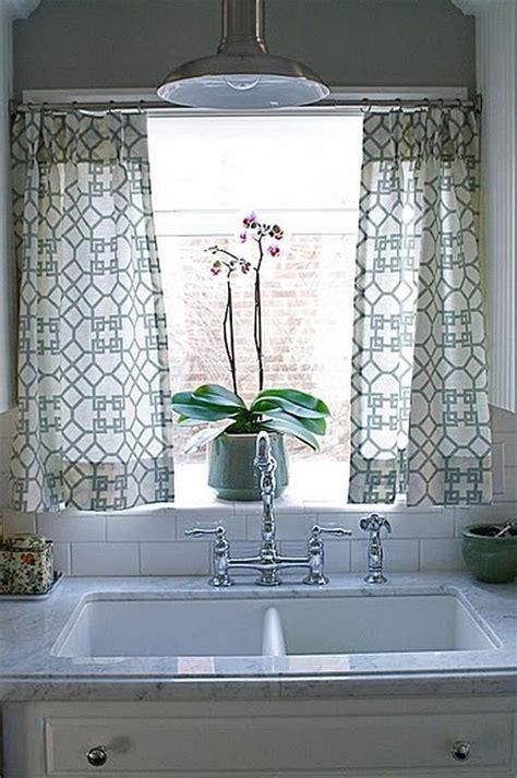 kitchen curtain decorating ideas  sink