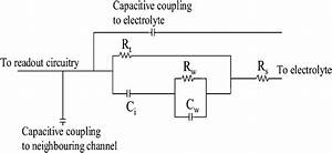 Circuit Diagram Representing The Electrode  Electrolyte