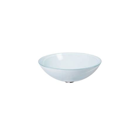 vasque en verre a poser blanc satin 233 vv14483 ondyna