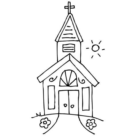 Kleurplaat Kerk by Leuk Voor Kerken Kleurplaat