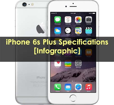 iphone 6s spec iphone 6s plus specifications infographic sagmart