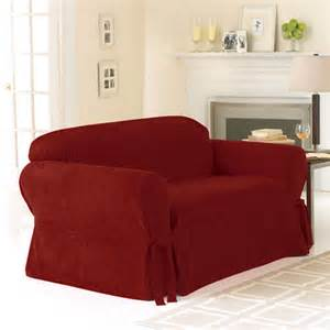 sure fit soft suede loveseat slipcover decor walmart com