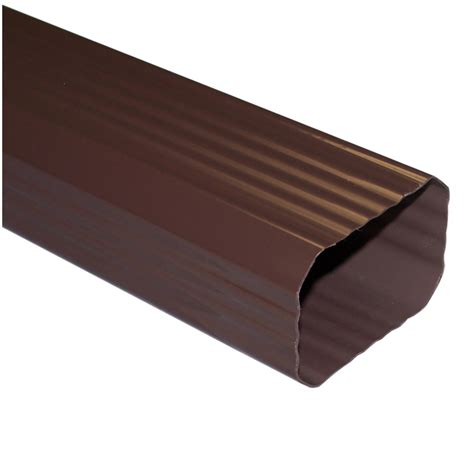 vinyl gutters lowes shop genova 120 in brown vinyl downspout at lowes 3278