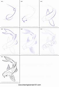 How to Draw a Koi Fish printable step by step drawing ...
