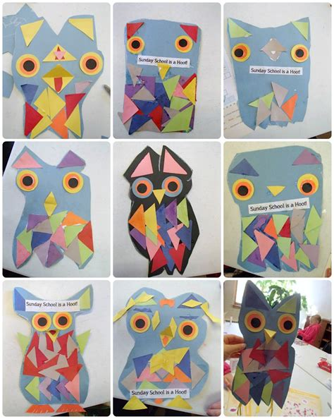 paper owl craft reading confetti