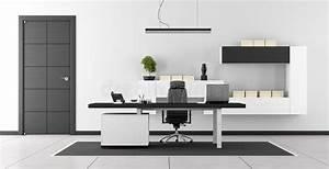 Bureau Noir Et Blanc : bureau moderne noir et blanc illustration stock ~ Melissatoandfro.com Idées de Décoration