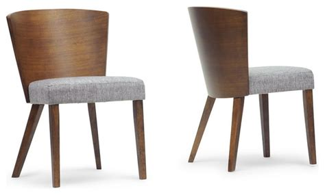 sparrow brown wood modern dining chairs set of 2