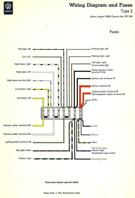 Diagram 10 Fuse Box Wiring For 1968 Vw by Wiring Rear Small Lights In Help The Split