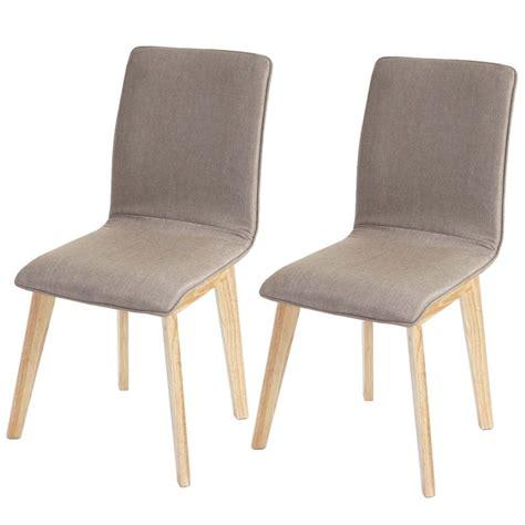 lot de 6 chaises en bois lot de 6 chaises de salle à manger en tissu pied en bois cds04290 décoshop26