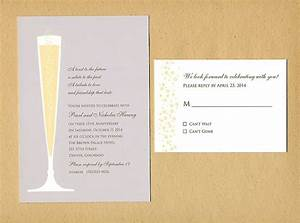 champagne glass wedding invitation sample a lovely idea With wedding invitations for december