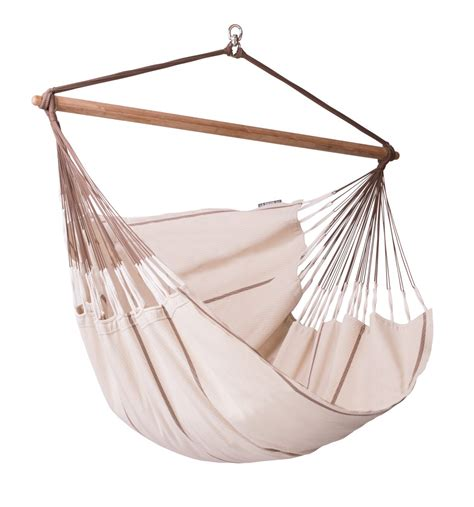 Cotton Hammock Chair by Habana Nougat Organic Cotton Lounger Hammock Chair