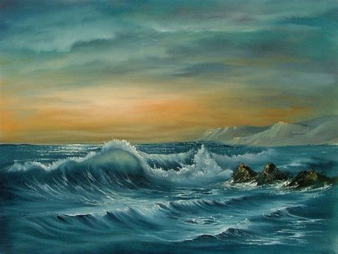 Items Similar To Original Seascape In Oil Using The Bob