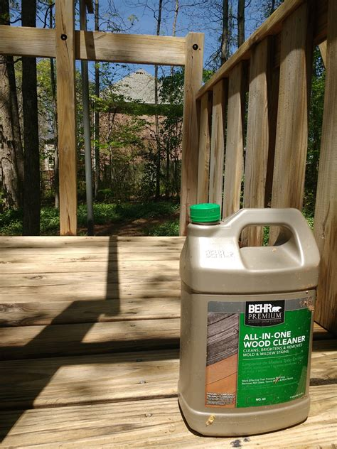 updating  wood swingset  behr wood cleaner oak