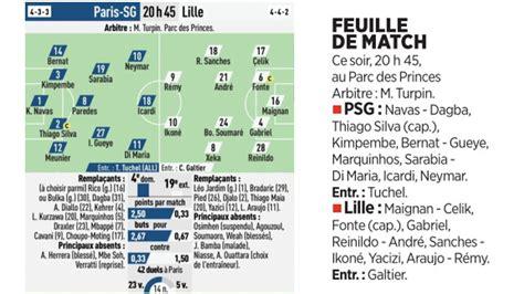 Match : Les compositions de PSG/Lille selon la presse ...