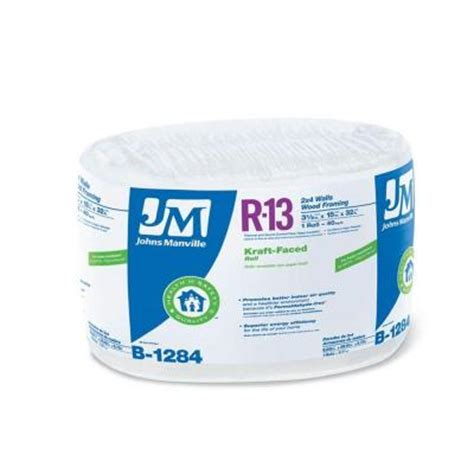 johns manville r 13 kraft faced fiberglass insulation roll