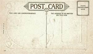Free Prinrable Antique Postcards - The Back Sides