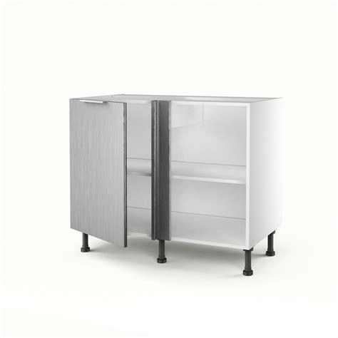 meuble bas cuisine leroy merlin meuble de cuisine bas d 39 angle décor aluminium 1 porte stil