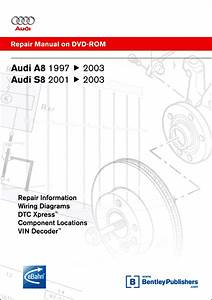 Audi A8  S8 Repair Manual On Dvd-rom  1997-2003