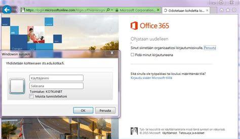 Microsoftonline 365 Login by O365 Oppilas Ad Edu Kotka Fi Tunnus