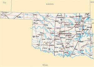 oklahoma map with all cities