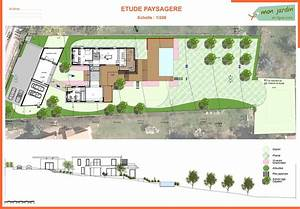 plan amenagement jardin cobtsacom With plan amenagement jardin rectangulaire