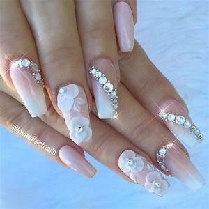 35 Glamorous Wedding Nail Art Ideas for 2018 Best Bridal Nail Designs Pretty Designs