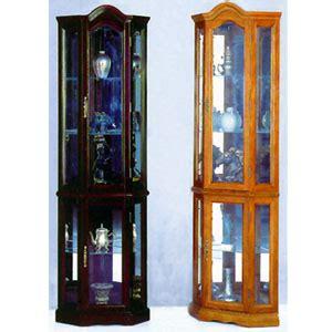 curio cabinets oak or cherry corner curio cabinet 1702