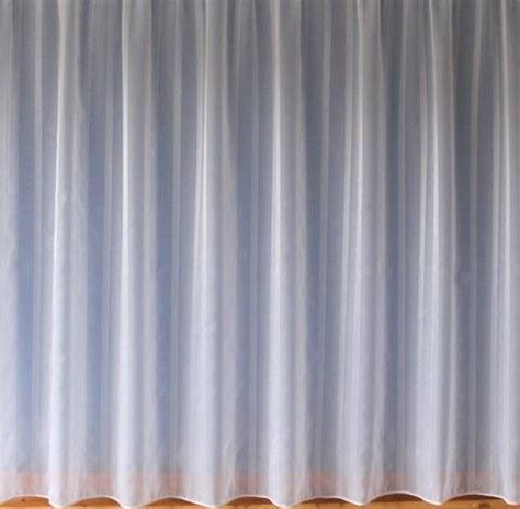 Vertical Striped Voile Curtains by Alison White Voile With A Lead Weighted Base With