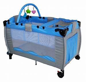 New Blue Portable Child Baby Travel Cot Bed Bassinet ...