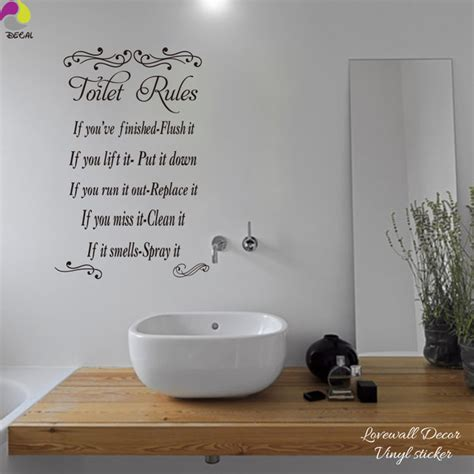 toilet wall sticker bathroom washroom wc restroom lavatory wall decal loo waterproof vinyl