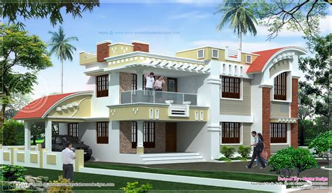 sqfeet double floor home exterior house design plans