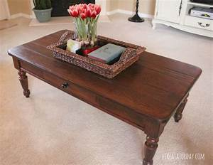 how to strip and re stain wood furniture chair makeover With how to stain a coffee table