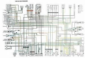 1984 Gl1200 Standard Colour Schematic