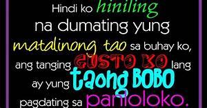 Hindi ko hiniling na dumating yung taong matino sa buhay ...