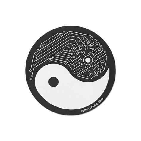 yin yang tech vinyl sticker