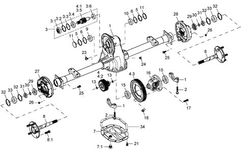 image result for golf cart differential exploded view