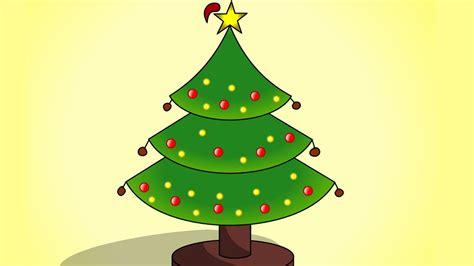 easy to draw christmas tree youtube