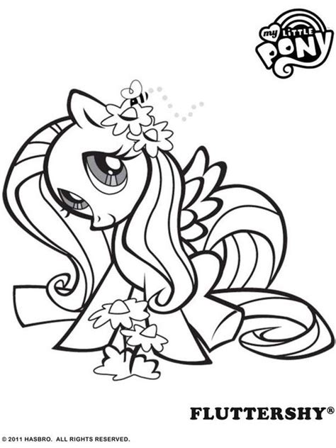 Coloring Fluttershy by Fluttershy Pony Coloring Pages My Pony Coloring