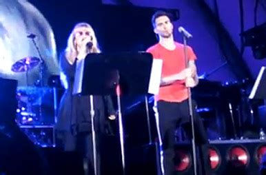 Maroon 5 and Stevie Nicks 'Leather and Lace' at the ...