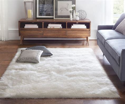 white living room rug modern living room design with fluffy white sheepskin room 1604