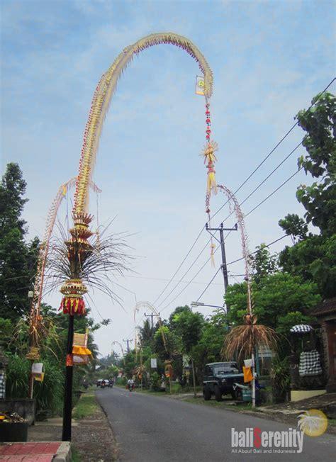 penjor galungan   bali  indonesia