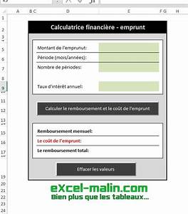 Calcul Taux Credit Bail Excel Vba