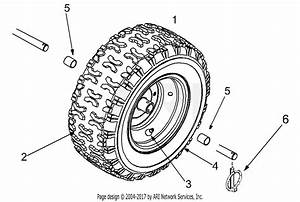 Mtd 31ae6a4e129  2001  Parts Diagram For Wheel Assembly