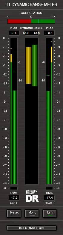 tt dynamic range meter plugins d effets